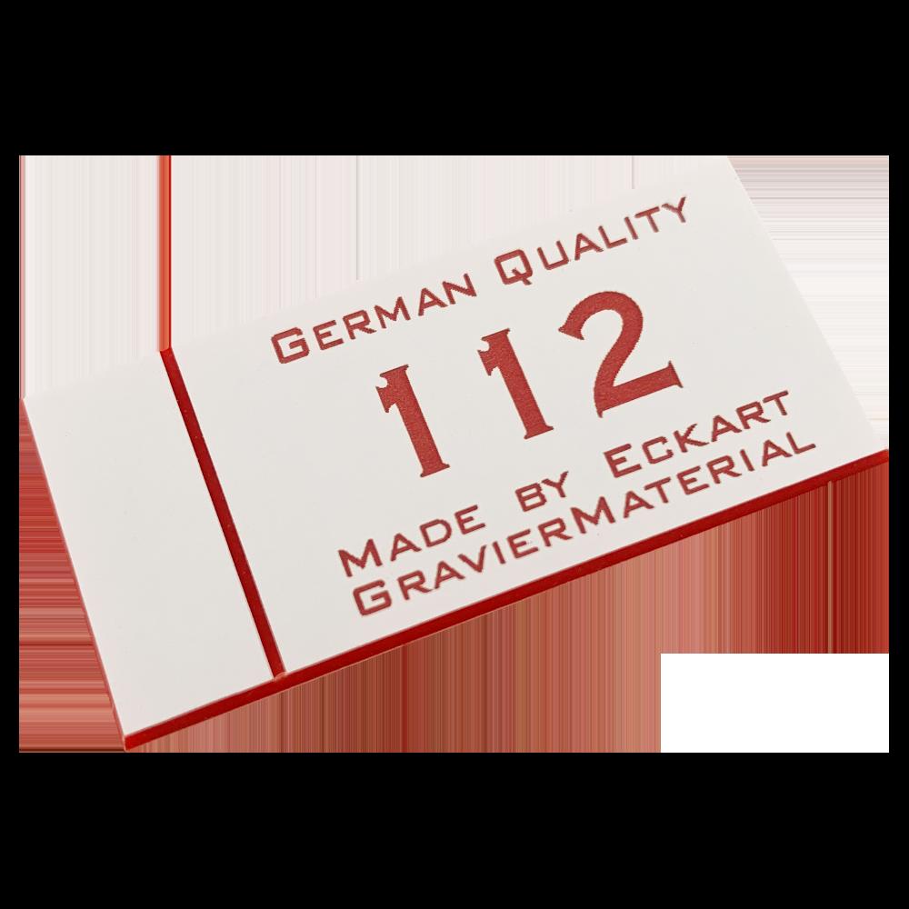 Material gravura - Alb/Rosu (112)