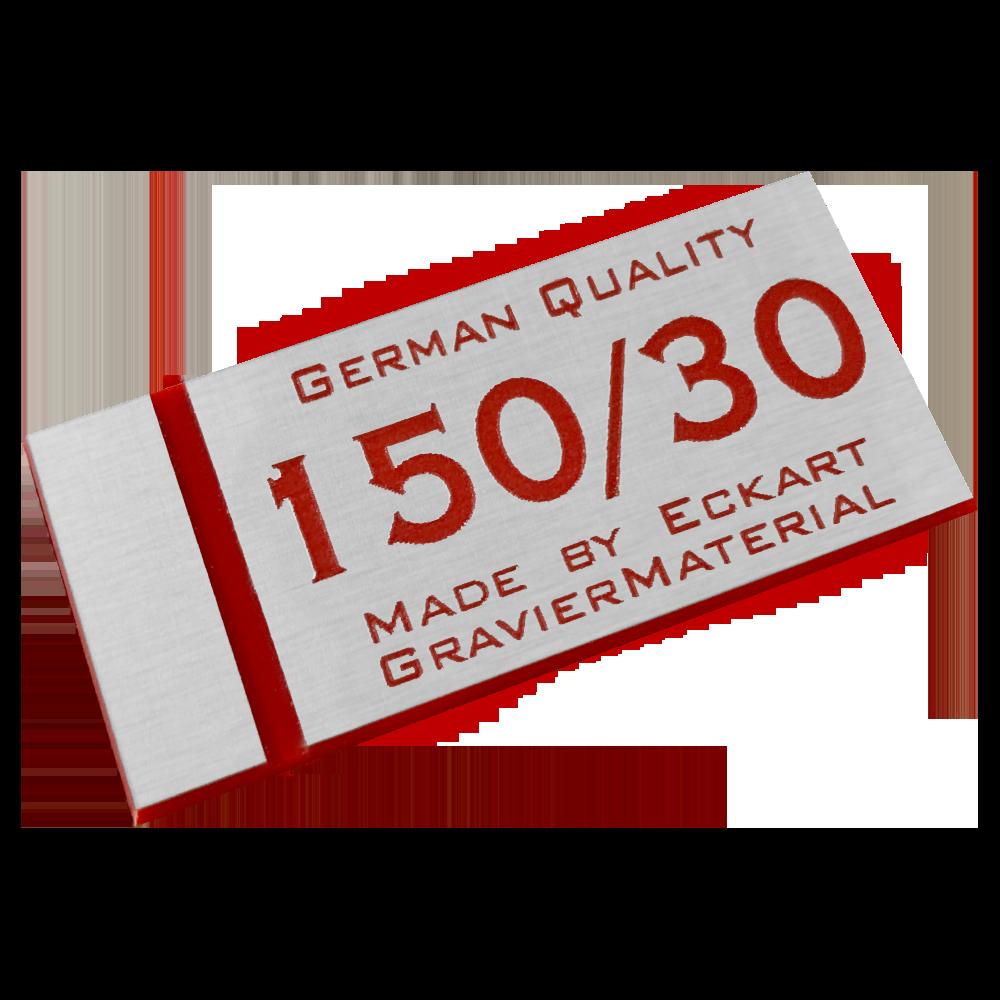 Material gravura - Argintiu/Rosu (150/30)