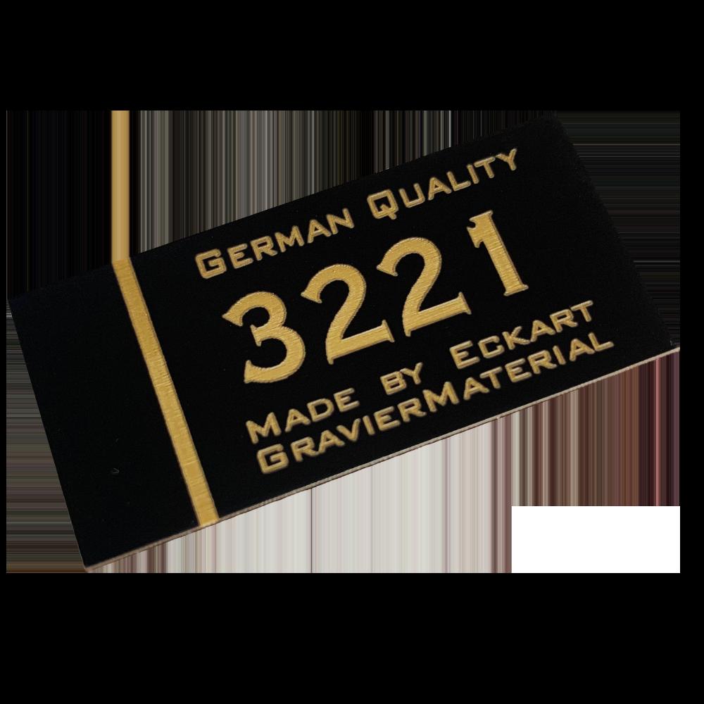 Material gravura - Negru/Auriu (3221)