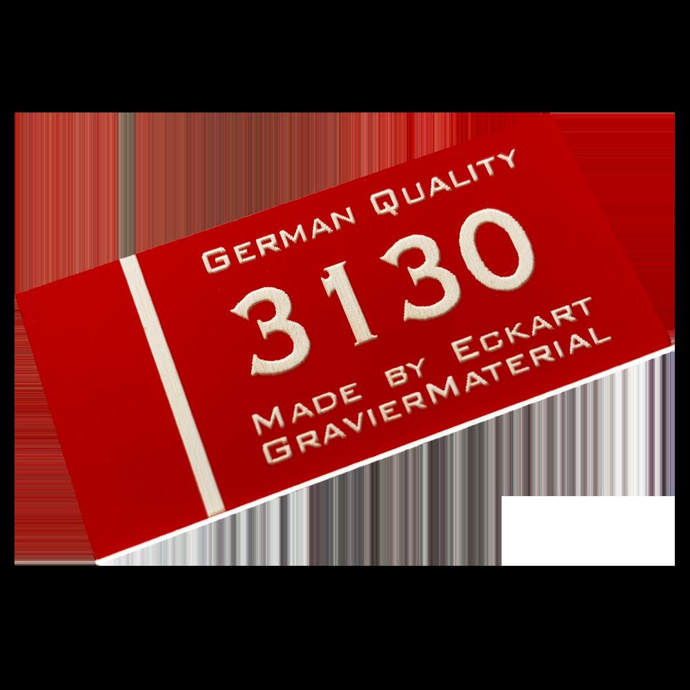 Material gravura - Rosu/Alb (3130)