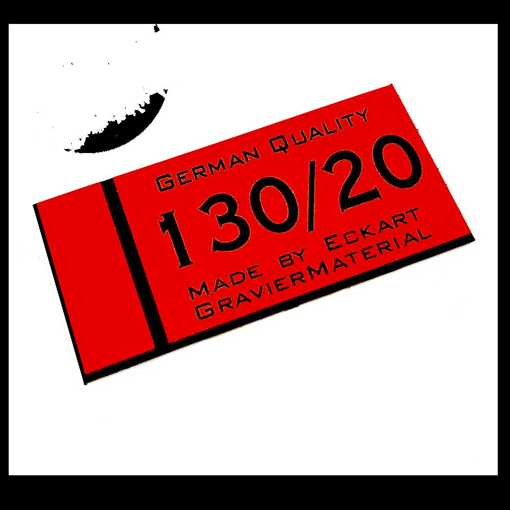 Material gravura - Rosu/Negru (130/20)